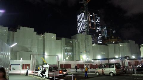 大改装中の東京駅