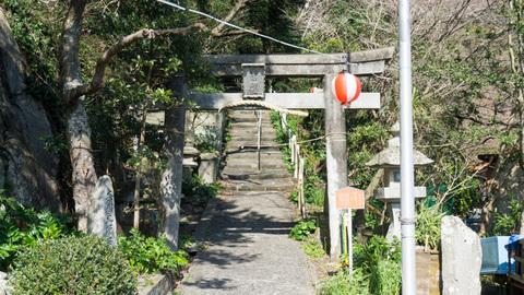 淡島神社入り口