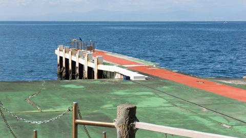 淡島ホテルの裏手の桟橋