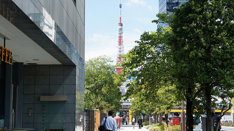 浜松町から見た東京タワー