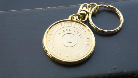 記念メダルに刻印