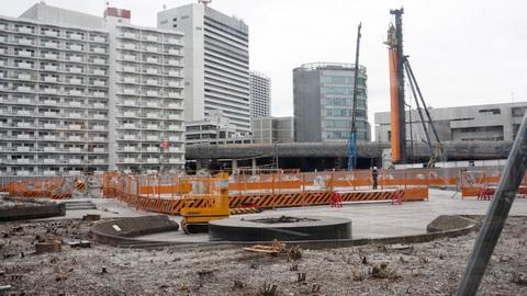 解体がほぼ終わった都産貿跡地