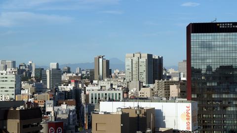 秋葉原から見えた富士山