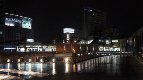 夜の秋葉原駅&ホテル