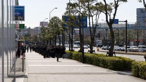 横浜BLITZの物販待機列