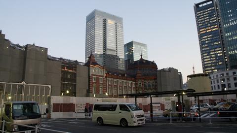改装中の東京駅