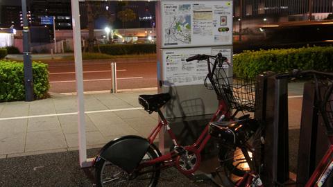 baybike新高島サイクルポート夜